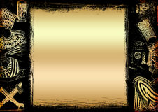 Egyptian gold background Royalty Free Stock Photo