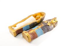 Egyptian golden pharaohs mask Stock Image