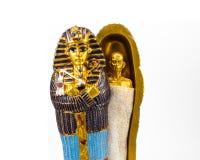 Egyptian golden pharaohs mask Royalty Free Stock Photography