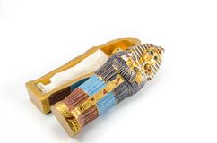 Egyptian golden pharaohs mask Royalty Free Stock Images