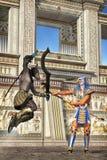 Egyptian goods duelling. Fantasy 3D render fantasy illustration stock illustration