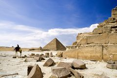 Egyptian Great Pyramids Royalty Free Stock Photo