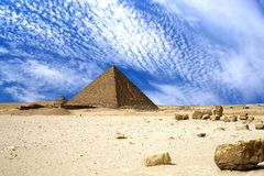 Egyptian Great Pyramids. Image of the Great Pyramids of Egypt stock image