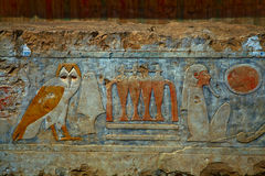 Hieroglyphics in Egypt Royalty Free Stock Photos