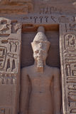 Hieroglyphics and Statue in Egypt Royalty Free Stock Images