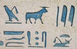 Egyptian hieroglyph symbols Stock Photography