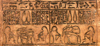 Egyptian hieroglyphic Stock Photography