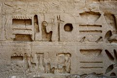 Egyptian hieroglyphics Stock Photography