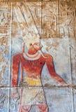 Egyptian Hieroglyphics. Architectural detail Egyptian Ruins near Cairo Stock Photos