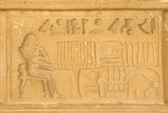 Egyptian hieroglyphics from saqqarah, cairo Royalty Free Stock Photos