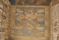 Egyptian hieroglyphics on a temple wall Stock Image