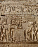 Egyptian hieroglyphics on wall Stock Image