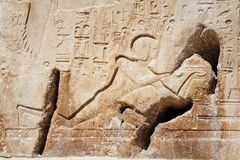 Egyptian hieroglyphs. Stock Images