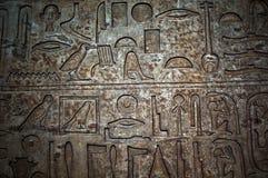 Egyptian Hieroglyphs Stock Photography
