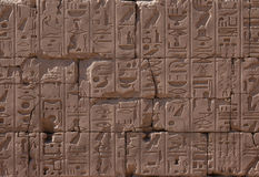 Egyptian Hieroglyphs Royalty Free Stock Image