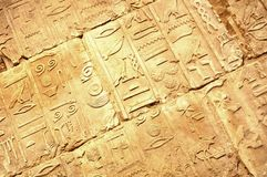 Egyptian hieroglyphs. Abstract background with Egyptian hieroglyphs Royalty Free Stock Photo