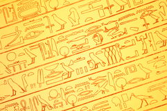 Egyptian hieroglyphs Stock Images