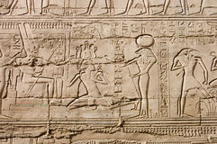 Egyptian hieroglyphs. close up Royalty Free Stock Image