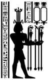 Egyptian hieroglyphs and fresco royalty free stock photos