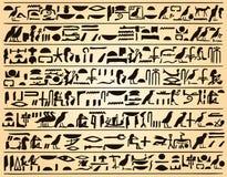Egyptian hieroglyphs Royalty Free Stock Image