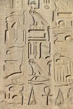 Egyptian hieroglyphs on the obelisk in front of St. John Lateran ArchBasilica in Rome Stock Photos