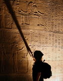 Egyptian Hieroglyphs. Philae Temple Stock Photos