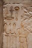 Egyptian Hieroglyphs : Temple of Hatshepsut Stock Photos
