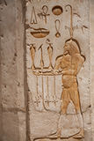 Egyptian Hieroglyphs : Temple of Hatshepsut Royalty Free Stock Photography