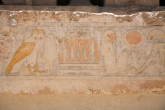 Egyptian Hieroglyphs : Temple of Hatshepsut Stock Photography