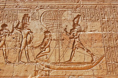 Egyptian hieroglyphs on wall, Egypt Royalty Free Stock Images