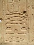 Egyptian hieroglyps Stock Images