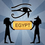 Egyptian Horus eye Royalty Free Stock Photo