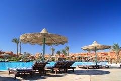Egyptian hotel. Recreational area in egyptian hotel Stock Photos