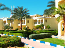 Egyptian hotel complex stock image