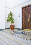 Egyptian hotel entrance Stock Photo