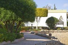 Egyptian hotel and gardens Royalty Free Stock Photos