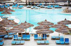 Egyptian Hotel resort swimming pool Royalty Free Stock Image