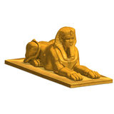 Egyptian human statue Royalty Free Stock Photography