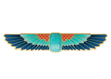 Egyptian Icon Beetle Wings Royalty Free Stock Photos