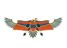 Egyptian Icon Bird Royalty Free Stock Photography