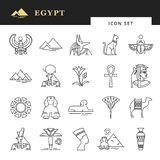 Egyptian icon set for a logo, website design, printing products and more. Classic elements of Egypt. vector illustration