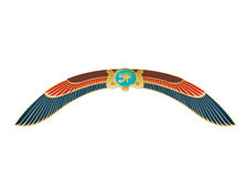 Egyptian Icon Wings Stock Photo