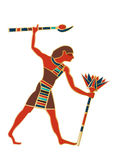 Egyptian Icon Worker Figure Stock Photo