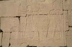 Egyptian images and hieroglyphs . Royalty Free Stock Photography