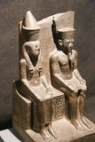 Egyptian King and Queen statue, Luxor Museum royalty free stock photos