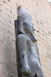 Egyptian King statue at Luxor temple. View of Luxor temple, Egypt Stock Photo