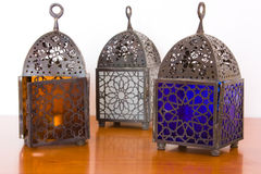 Egyptian lamps - three pieces Royalty Free Stock Photo