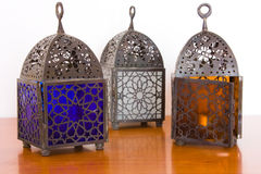 Egyptian lamps - three pieces Stock Image