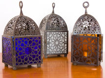 Egyptian lamps - three pieces Royalty Free Stock Photos
