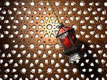 Egyptian lantern. Egyptian Fanoos or Lantern - 3d illustration vector illustration